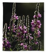 Purple Wild Flowers - 2 Fleece Blanket