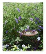 Purple Wild Flowers 1 Fleece Blanket