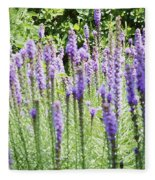 Purple Wild Flowers 2 Fleece Blanket