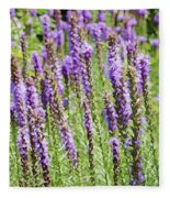 Purple Wild Flowers3 Fleece Blanket