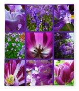 Purple Window Fleece Blanket
