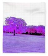 Purple World Fleece Blanket