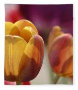 Purpleyellowtulips7016 Fleece Blanket