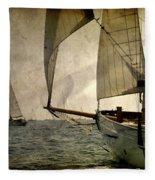 Pursuit In Deep Sea Fleece Blanket