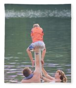 Push Your Child To Achieve Fleece Blanket