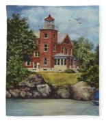 Put-in-bay Lighthouse Fleece Blanket