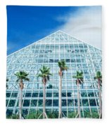 Pyramid, Moody Gardens, Galveston Fleece Blanket