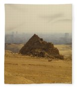 Pyramids Of Giza 12 Fleece Blanket