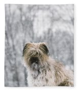 Pyrenean Shepherd Dog Fleece Blanket