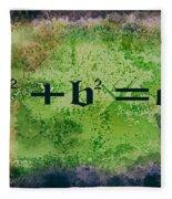Pythagorean Theorem Fleece Blanket