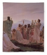 Pythagoreans' Hymn To The Rising Sun Fleece Blanket