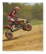 Quad Racer Jumping Fleece Blanket
