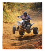 Quad Rider  Fleece Blanket