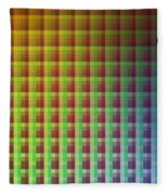 Quadrants Of Color Fleece Blanket