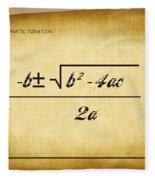 Quadratic Equation - Aged Fleece Blanket