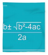 Quadratic Equation Aqua-white Fleece Blanket