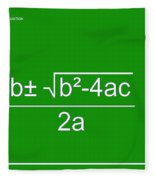 Quadratic Equation Green-white Fleece Blanket