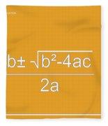 Quadratic Equation Orange-white Fleece Blanket