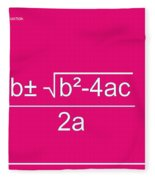 Quadratic Equation Fleece Blanket