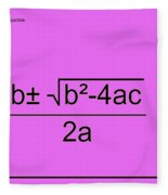 Quadratic Equation Pink-black Fleece Blanket