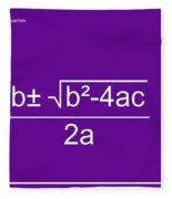 Quadratic Equation Violet-white Fleece Blanket
