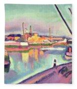 Quai Notre Dame Le Havre Fleece Blanket