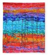 Quantum Cascade Fleece Blanket