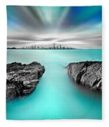 Quantum Divide Fleece Blanket