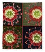 Quatro Floral - 0102cba Fleece Blanket
