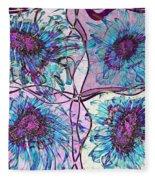 Quatro Floral - 11ac04 Fleece Blanket