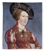 Queen Anne Of Hungary And Bohemia Fleece Blanket