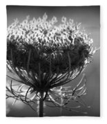 Queen Annes Lace - Bw Fleece Blanket