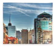 Queen City Downtown Fleece Blanket