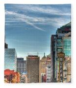 Queen City Downtown Fleece Blanket
