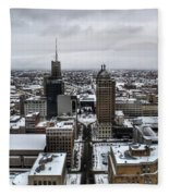Queen City Winter Wonderland After The Storm Series 001 Fleece Blanket