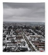 Queen City Winter Wonderland After The Storm Series 0010 Fleece Blanket
