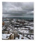 Queen City Winter Wonderland After The Storm Series 0011 Fleece Blanket