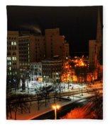 Queen City Winter Wonderland After The Storm Series 0015 Fleece Blanket