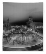 Queen City Winter Wonderland After The Storm Series 0019 Fleece Blanket
