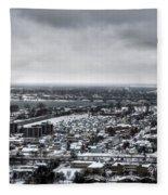 Queen City Winter Wonderland After The Storm Series 002 Fleece Blanket