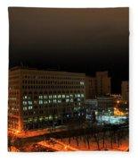 Queen City Winter Wonderland After The Storm Series 0020 Fleece Blanket