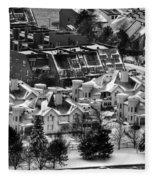Queen City Winter Wonderland After The Storm Series 0028a Fleece Blanket