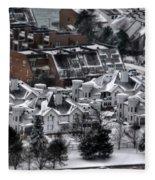 Queen City Winter Wonderland After The Storm Series 0028b Fleece Blanket