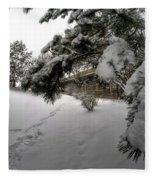 Queen City Winter Wonderland After The Storm Series 0029 Fleece Blanket