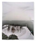 Queen City Winter Wonderland After The Storm Series 0034 Fleece Blanket