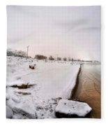 Queen City Winter Wonderland After The Storm Series 0038 Fleece Blanket