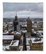 Queen City Winter Wonderland After The Storm Series 007 Fleece Blanket