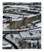 Queen City Winter Wonderland After The Storm Series 008 Fleece Blanket