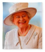 Queen Elizabeth II Portrait 100-028 Fleece Blanket