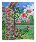 Queen Gardens In Belfast Fleece Blanket
